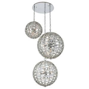 Alta Polished Chrome 36-Light Pendant with Firenze Crystal
