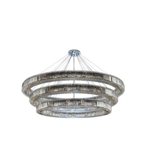 Rondelle Chrome 84-Inch 62-Light Pendant with Firenze Crystal