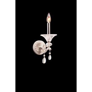 Vasari Polished Chrome One-Light Sconce with Swarovski Spectra Clear Crystal
