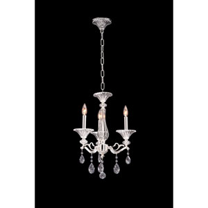 Vasari Polished Chrome Three-Light Chandelier with Swarovski Spectra Clear Crystal