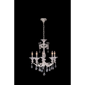 Vasari Polished Chrome Five-Light Chandelier with Swarovski Spectra Clear Crystal