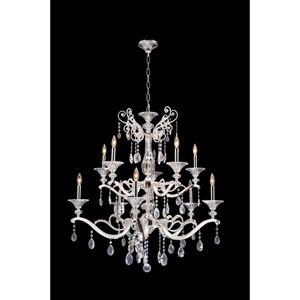Vasari Polished Chrome 10-Light Chandelier with Swarovski Spectra Clear Crystal