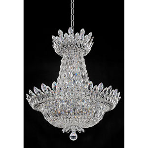 Belluno Chrome 15-Light Chandelier with Firenze Clear Crystal
