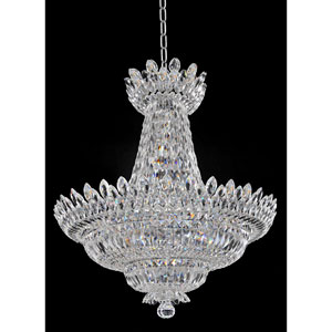 Belluno Chrome 22-Light Chandelier with Firenze Clear Crystal