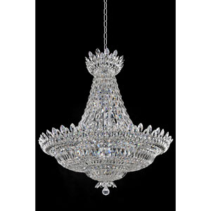 Belluno Chrome 32-Light Chandelier with Firenze Clear Crystal