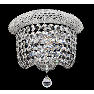 Napoli Polished Chrome Two-Light Sconce with Firenze Clear Crystal