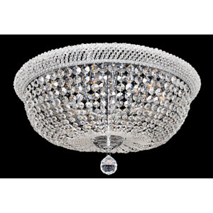Napoli Polished Chrome Eight-Light Flush Mount with Firenze Clear Crystal
