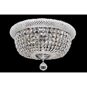 Napoli Polished Chrome 12-Light Flush Mount with Firenze Clear Crystal