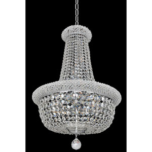 Napoli Polished Chrome 15-Light Chandelier with Firenze Clear Crystal