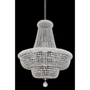 Napoli Polished Chrome 21-Light Chandelier with Firenze Clear Crystal