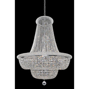Napoli Polished Chrome 33-Light Chandelier with Firenze Clear Crystal