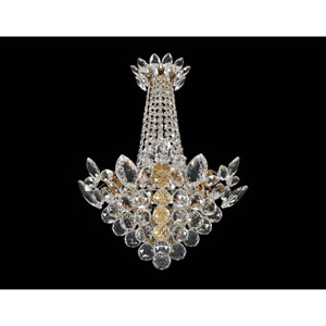 Treviso 18K Gold Three-Light Sconce with Firenze Clear Crystal