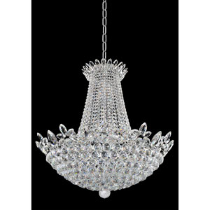 Treviso Chrome 21-Light Chandelier with Firenze Clear Crystal