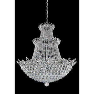 Treviso Chrome 27-Light Chandelier with Firenze Clear Crystal