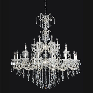 Praetorius French Gold 24K 33-Light Chandelier with Firenze Clear Crystal