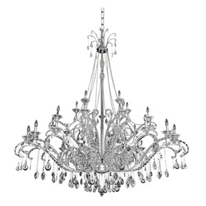 Torrelli Chrome 35-Light Chandelier with Firenze Clear Crystal