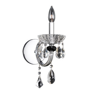 Steffani Chrome One-Light Wall Bracket with Firenze Clear Crystal
