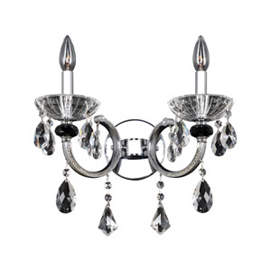 Steffani Chrome Two-Light Wall Bracket with Firenze Clear Crystal