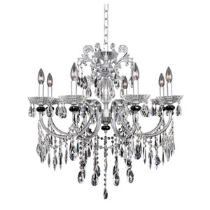 Steffani Chrome Eight-Light Chandelier with Firenze Clear Crystal