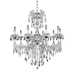 Steffani Chrome 10-Light Chandelier with Firenze Clear Crystal