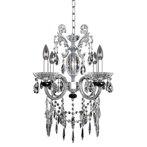 Steffani Chrome Four-Light Mini Chandelier with Firenze Clear Crystal