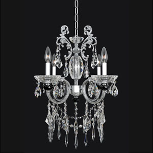 Steffani Chrome Four-Light Chandelier with Swarovski Strass Clear Crystal