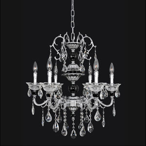 Faure Chrome Four-Light Chandelier with Swarovski Strass Clear Crystal