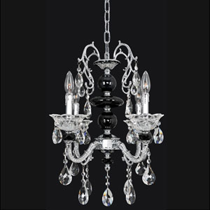 Faure Chrome Six-Light Chandelier with Swarovski Strass Clear Crystal