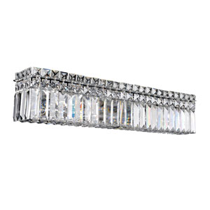 Vanita Chrome Six-Light Wall Bracket with Firenze Clear Crystal