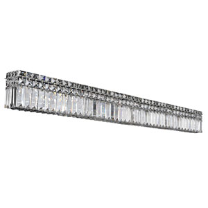 Vanita Chrome 10-Light Wall Bracket with Firenze Clear Crystal