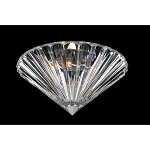 Chauvet Chrome Two-Light 12-Inch Flush Mount with Firenze Clear Crystal