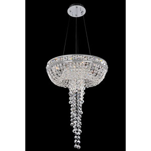Cascata Chrome Four-Light Chandelier with Firenze Clear Crystal