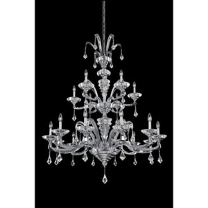Cosimo Polished Chrome 18-Light Chandelier with Firenze Clear Crystal