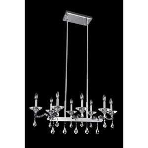 Cosimo Polished Chrome Eight-Light Island Pendant with Firenze Clear Crystal