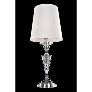 Cosimo Polished Chrome One-Light Table Lamp with Firenze Clear Crystal