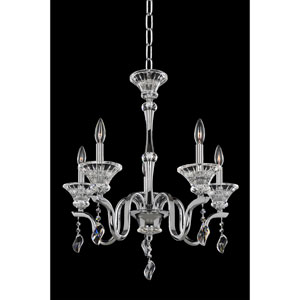 Lusso Chrome Five-Light Chandelier with Firenze Clear Crystal