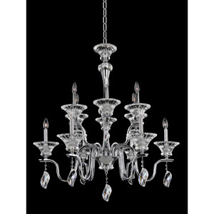 Lusso Chrome 12-Light Chandelier with Firenze Clear Crystal