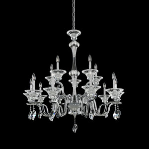 Lusso Chrome 15-Light Chandelier with Firenze Clear Crystal