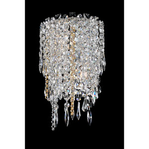 Tenuta Chrome Two-Light Sconce with Firenze Clear Crystal