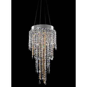 Tenuta Chrome Five-Light Chandelier with Firenze Clear Crystal