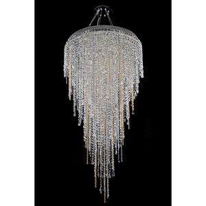 Tenuta Chrome 16-Light Chandelier with Firenze Clear Crystal