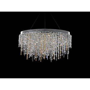 Tenuta Chrome 10-Light Island Pendant with Firenze Clear Crystal