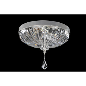 Orecchini Chrome Two-Light Flush Mount with Firenze Clear Crystal