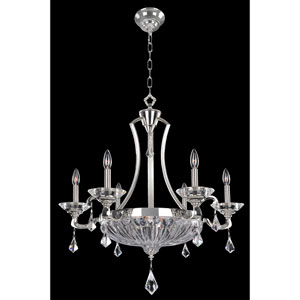 Orecchini Chrome Nine-Light Chandelier with Firenze Clear Crystal