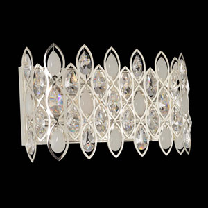 Prive Silver Four-Light Vanity with Firenze Clear Crystal