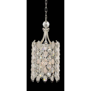 Prive Two-Tone Silver Three-Light Pendant with Firenze Clear Crystal