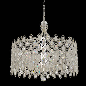 Prive Two-Tone Silver Six-Light 74-Inch Pendant with Firenze Clear Crystal