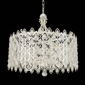 Prive Two-Tone Silver 10-Light Pendant with Firenze Clear Crystal