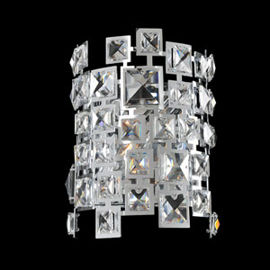 Dolo Chrome One-Light Sconce with Firenze Clear Crystal