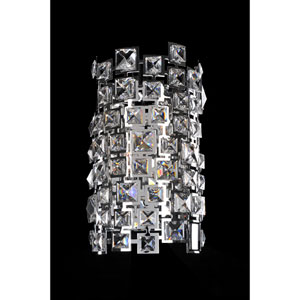 Dolo Chrome Two-Light Sconce with Firenze Clear Crystal